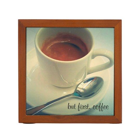 but first, coffee desk organiser