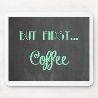 but first...coffee faux chalkboard mouse pads