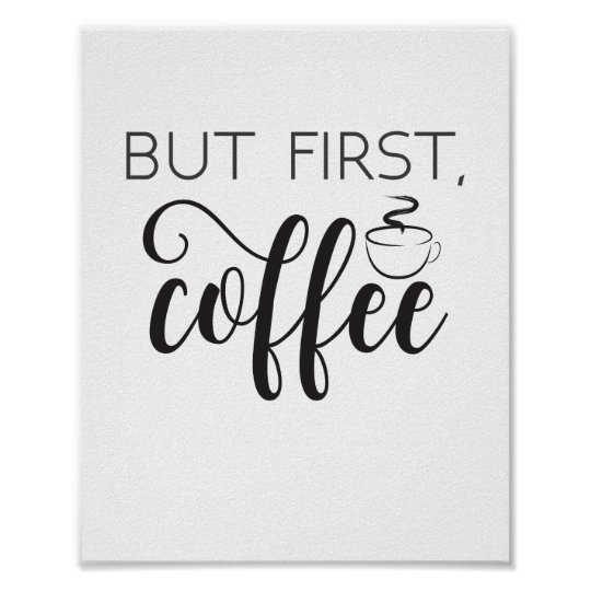 But First Coffee Wall Art, Kitchen Poster, Home