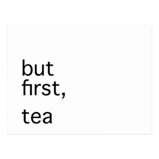 But first, tea typography postcard