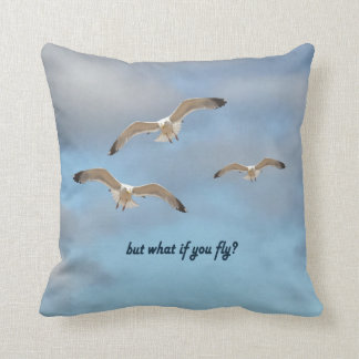 But what if you fly? throw pillow