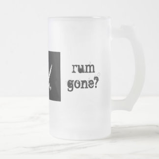 but why is the rum gone? frosted glass beer mug
