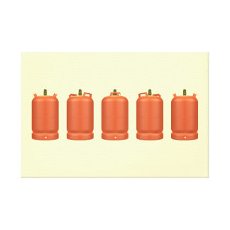 Butane gas cylinders in rotation canvas print