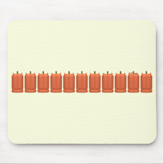 Butane gas cylinders mouse mat