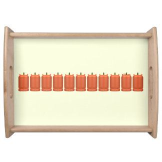 Butane gas cylinders serving tray