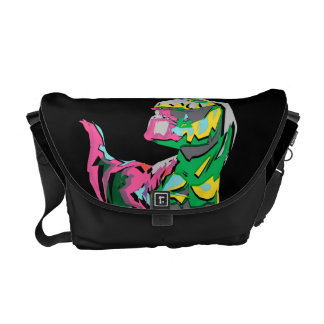 Butch Abstract Silhouette Messenger Bags