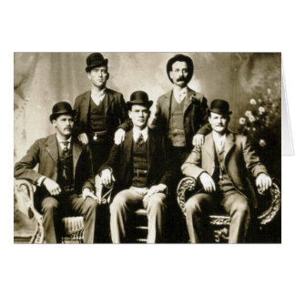 Butch Cassidy's Hole in the wall gang Greeting Cards