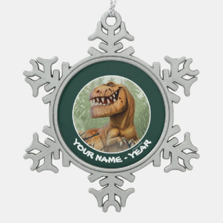 Butch In Forest Snowflake Pewter Christmas Ornament
