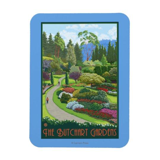 Butchart Gardens - Brentwood Bay Rectangular Photo Magnet