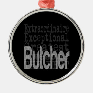 Butcher Extraordinaire Silver-Colored Round Decoration
