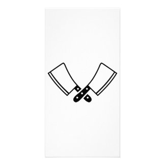 Butcher knives cleaver picture card