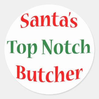 ButcherTop Notch Classic Round Sticker