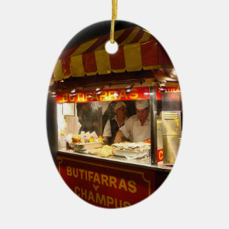 Butifarra Kiosk in a Park in Lima, Peru Christmas Ornament