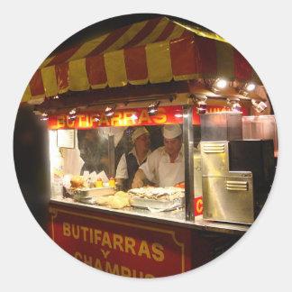 Butifarra Kiosk in a Park in Lima, Peru Classic Round Sticker