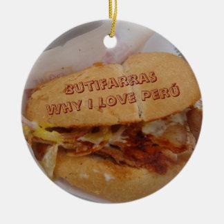 Butifarras - Why I Love Peru Christmas Ornament