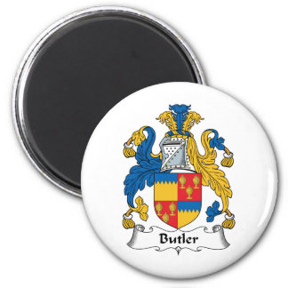 Butler Family Crest 6 Cm Round Magnet