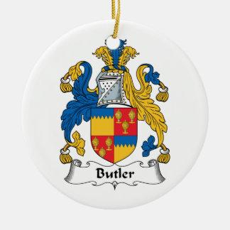 Butler Family Crest Christmas Ornament