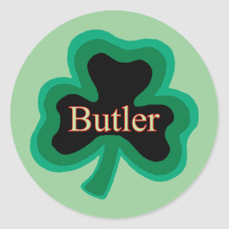 Butler Family Round Stickers