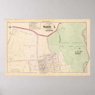 Butler Hospital for the Insane Atlas Map Poster
