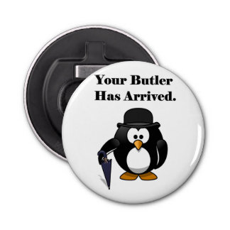 Butler Penguin Cute Cartoon with Umbrella Bottle Opener
