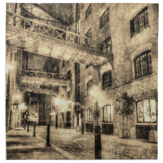 Butlers Wharf London Vintage Napkin