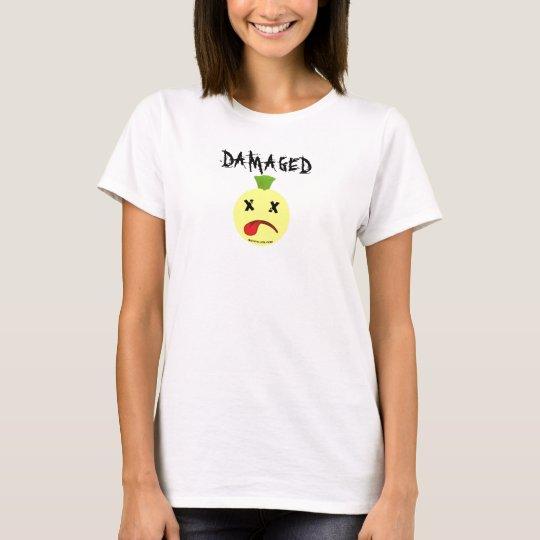 butstilloksmily face copy, DAMAGED T-Shirt