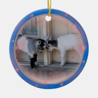 BUTT HEADS -BABY GOATS CHRISTMAS ORNAMENTS