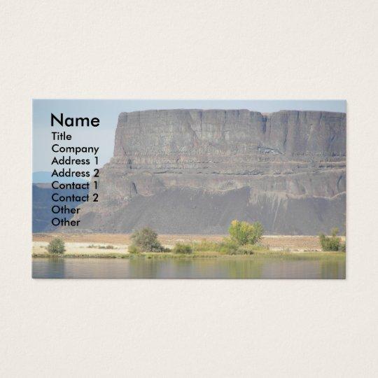 Butte Rock Landscape Photo Business Card