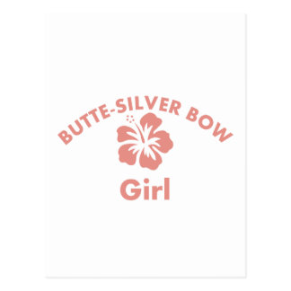 Butte-Silver Bow Pink Girl Postcards