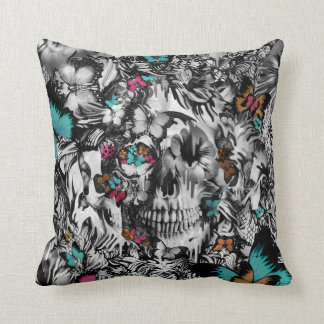 Butter and bones, butterfly skull cushion