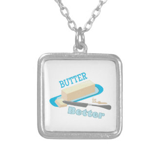 Butter Better Square Pendant Necklace