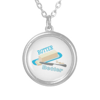 Butter Better Round Pendant Necklace