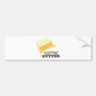 Butter Bumper Sticker
