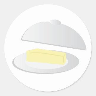 Butter Dish Classic Round Sticker