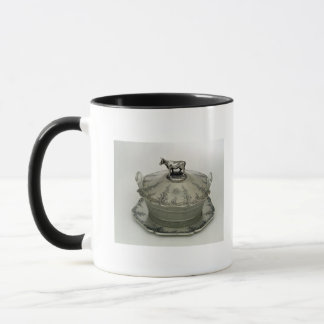 Butter dish with a frosted glass base mug
