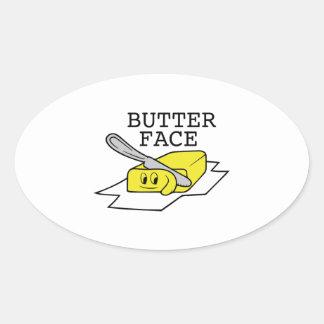 Butter Face Oval Sticker