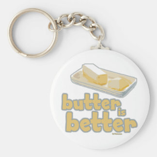 Butter is Better Basic Round Button Key Ring