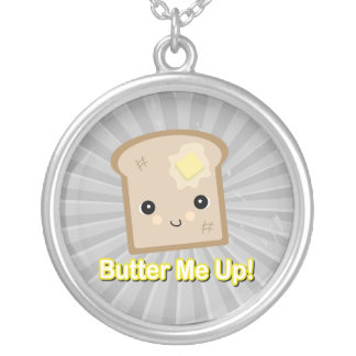 butter me up toast round pendant necklace
