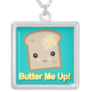 butter me up toast square pendant necklace