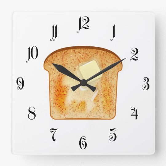 Butter on toast wallclock