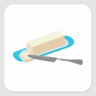 Butter Stick Square Sticker