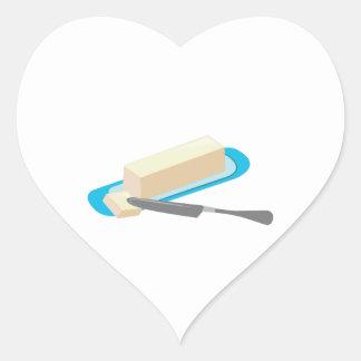 Butter Stick Heart Sticker