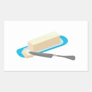 Butter Stick Rectangular Sticker