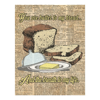 Butter to my bread.. Love Dictionary Art 21.5 Cm X 28 Cm Flyer