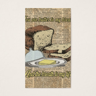 Butter to my bread.. Love Dictionary Art Business Card
