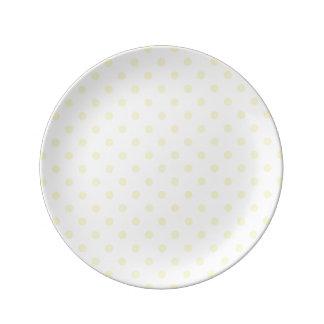 Butter Yellow Polka Dot Plate