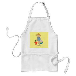 Butter Yellow Toddler Baby Girl at Beach Standard Apron