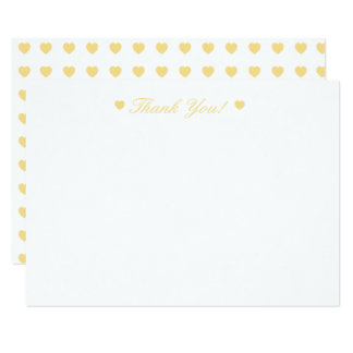 Buttercream Hearts Thank You Flat Card