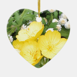 Buttercup and Babies Breath Christmas Ornament