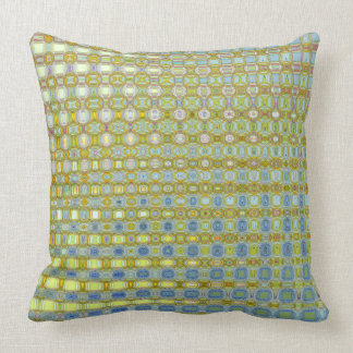 Buttercup & Bleu Cotton Throw Pillow by C.L. Brown